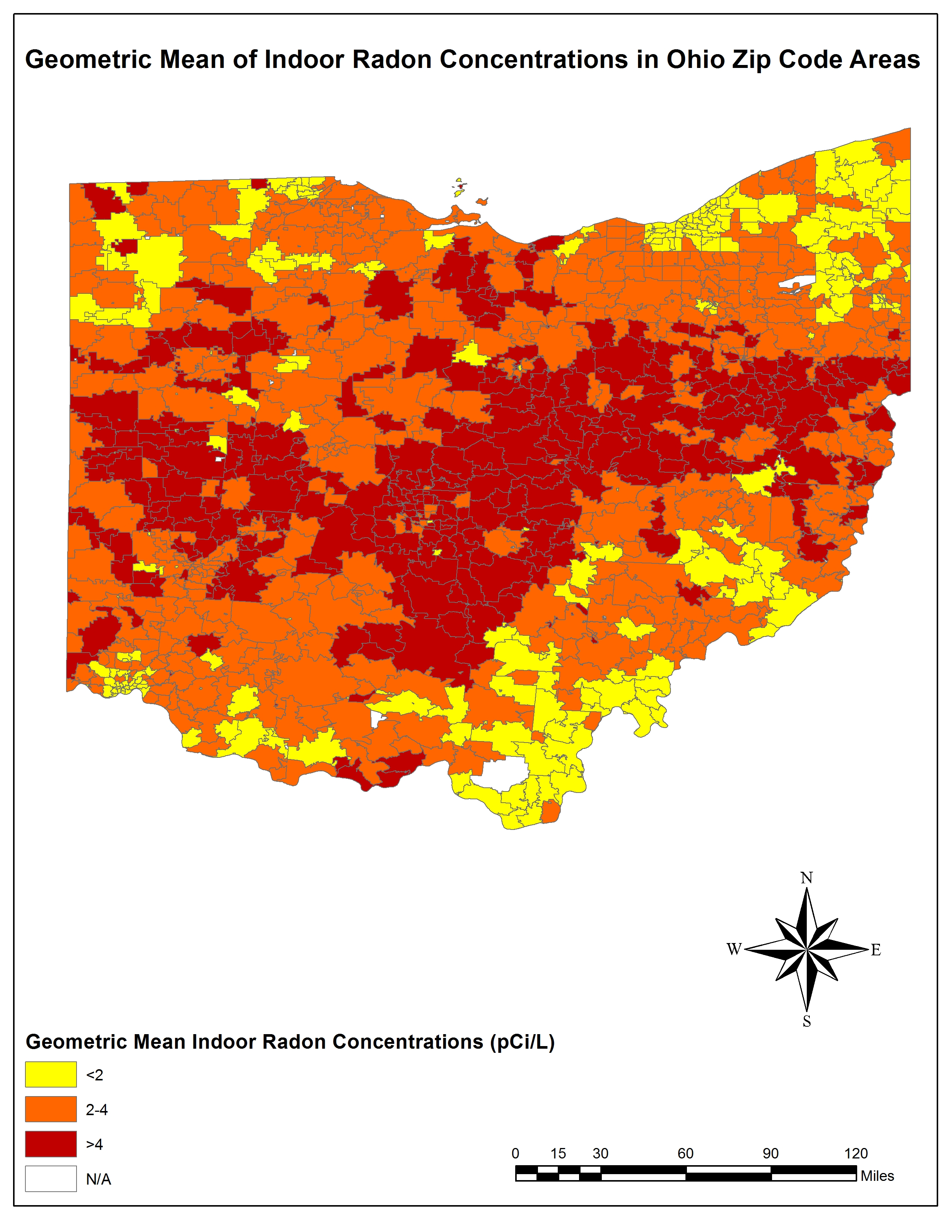 Geometric Mean Indoor Radon Concentrations in Ohio Zip Code ... on oh county map, ohio co map, akron ohio map, ohio zipcode, ohio usa map, city map, columbus ohio map, cincinnati suburbs map, zip codes by state map, ohio location on map, ohio hilliard subdivisions map, northern ohio cities map, ohio counties, ohio pa map, cleveland zip map, ohio town map, detailed ohio road map, ohio on us map, ohio county map, ohio precinct map,